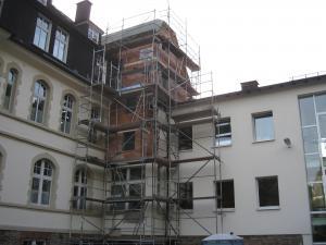 Erweiterung,Sanierung eines Treppenhauses in einem Rathaus