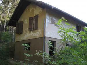 Jagdhütte vor der Sanierung von Innen u. Außen